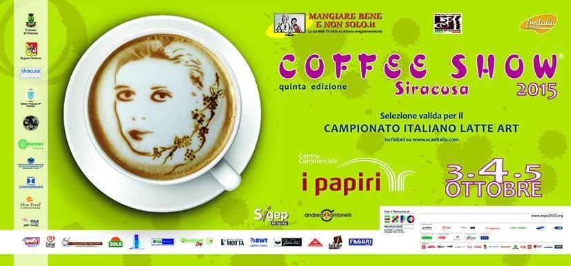 Locandina coffe show latte art